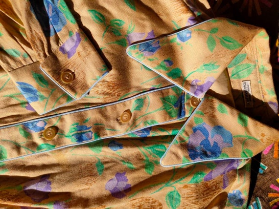 70s Floral Dagger Collar Western