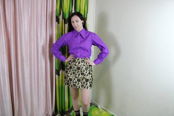 60s Gold Lurex Mini Skirt