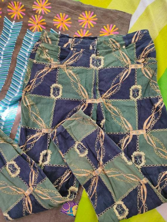 70s Scarf Print Pants - image 2