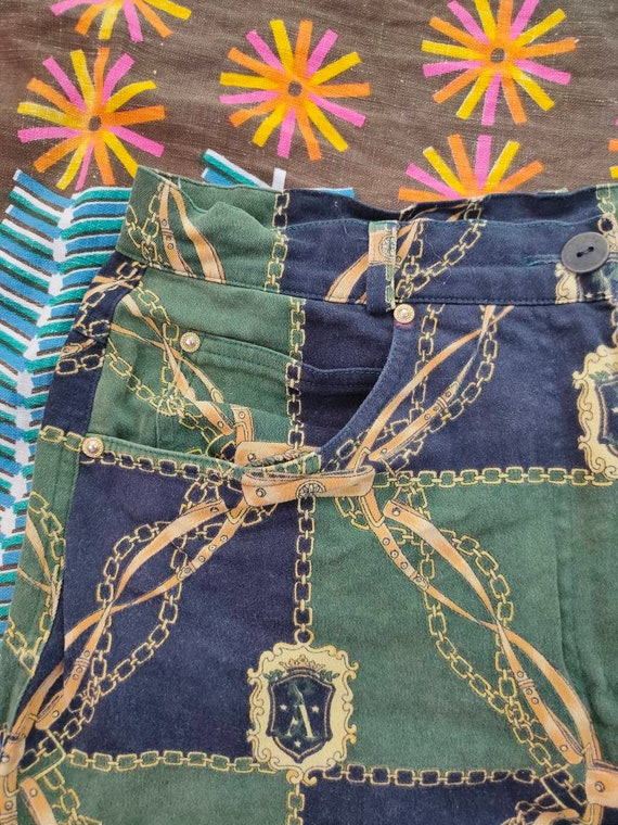 70s Scarf Print Pants - image 6