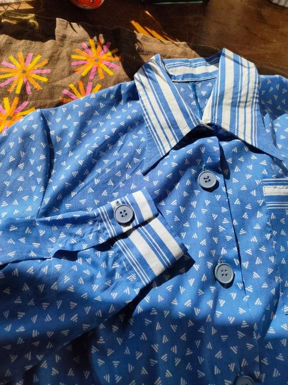 80's Cotton Shirt Dress
