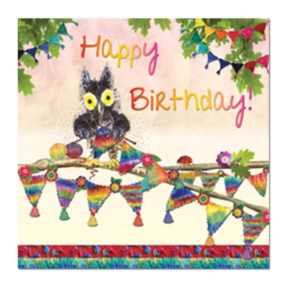 Happy Birthday Card Bunting Fine Art Blank