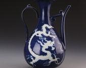 Beautiful Chinese Antique Ming Dynasty Hong Zhi 明代 Blue Glazed Porcelain Dragon Teapot