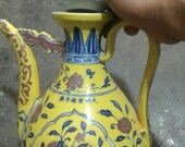 Beautiful Chinese Antique Ming Dynasty Xuan De 明代 Yellow Glazed Porcelain Flowers Plants Teapot