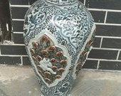 Rare Chinese Antique Ming Dynasty Hong Wu 明代洪武 Blue White Porcelain Boy Mei Vase