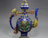 Beautiful Old Chinese Antique Da Ming Xuan De 大明宣德 Copper Bronze Teapot