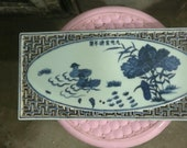 Fine Chinese Old Antique Ming Dynasty Xuan De 明代 Five Colours Porcelain Flowers Plants vitrolite