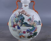 Beautiful Chinese Antique Old Qing Dynasty Yong Zheng Emperor 清代雍正 Famille Rose Porcelain Hand painting Figure Vase