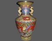 Rare Unique Chinese Antique Da Qing GuanXu Dynasty Famille-Rose Porcelain Vase With Phoenix