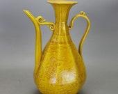 Beautiful Chinese Antique Ming Dynasty Hong Zhi 明代 Yellow Glazed Porcelain Dragon Teapot