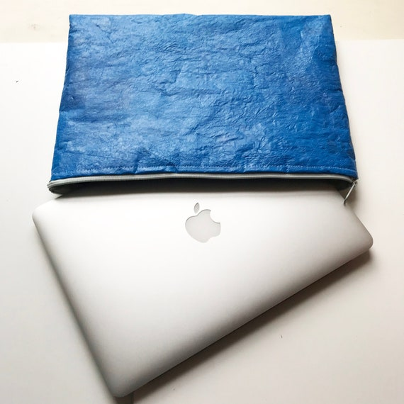 King Penguin Laptop Sleeve: MADE TO ORDER - upcycled from plastic bags