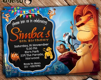 Lion king invitation etsy sale 50 off lion king birthday invitation printable lion king birthday invitation theme lion king invitation for girls and boys filmwisefo