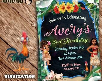 moana invitation instant download etsy