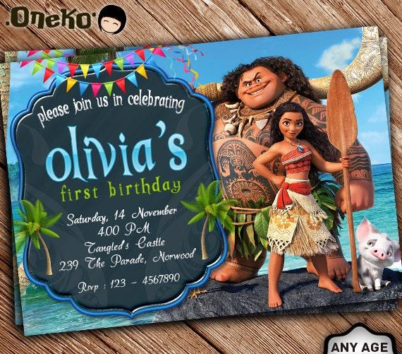 Moana Birthday Invitation Printable