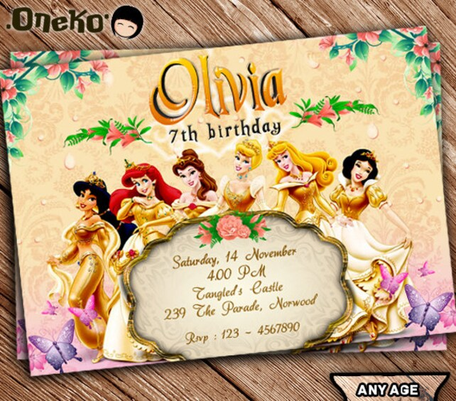 SALE 50 OFF Disney Princess Birthday Invitation Printable