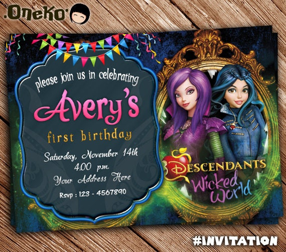 Descendants Wicked World Invite