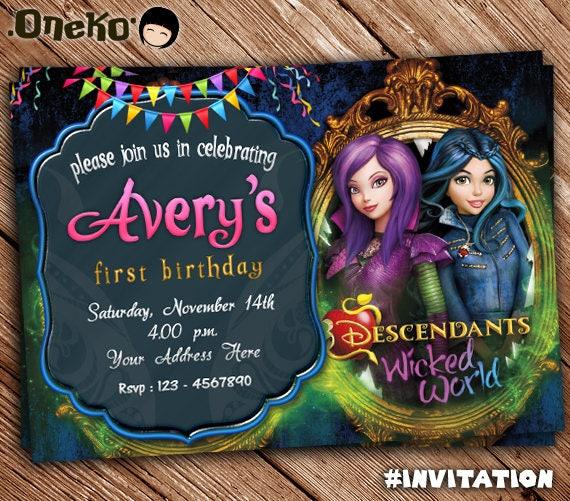 Descendants Birthday Invitation Theme