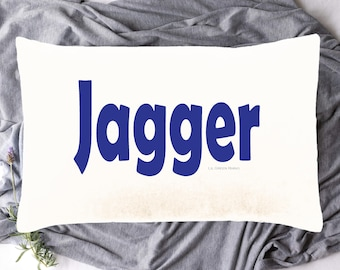 Custom Personalised Pair White Pillow Cases Bed Pick Any Text Name On Each
