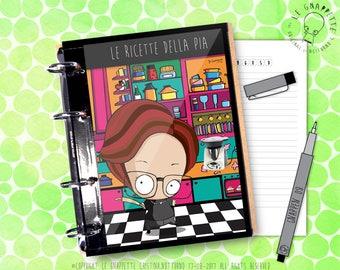 Quaderno Appunti Personalizzato con Caricatura. Per fogli A4. Taccuino ad anelli personalizzato. Quaderno ad anelli personalizzato.