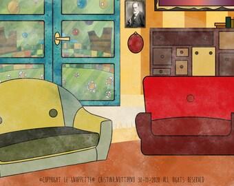 Psychiatrist Psychologist Gift. Custom Portrait as Cartoon Character.
