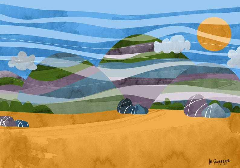 Desert Background For Cartoon Caricature Etsy