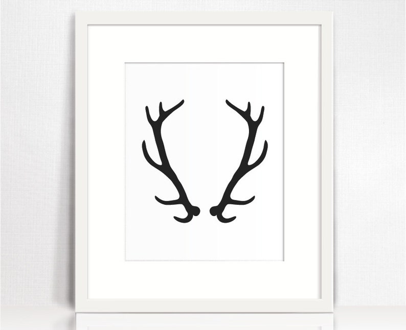 picture about Printable Deer Antlers known as Deer antler wall artwork. Black and white artwork print obtain. Antler print. Residing area wall decor. Printable deer antlers. Prompt down load artwork