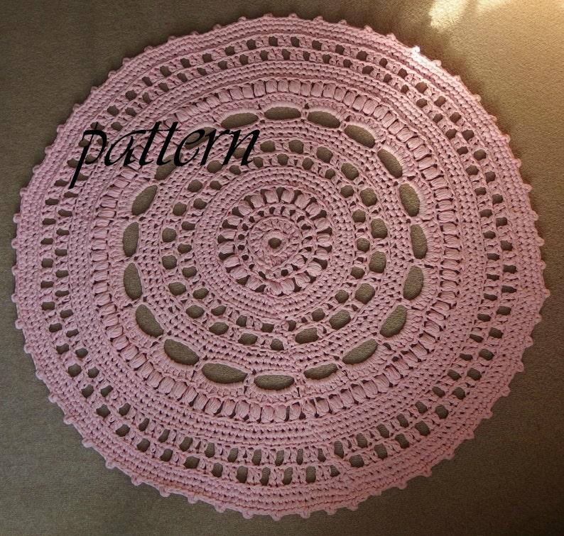 Digital Crochet Pattern T Shirt Yarn Rug Zpagetti Yarn Rug Etsy