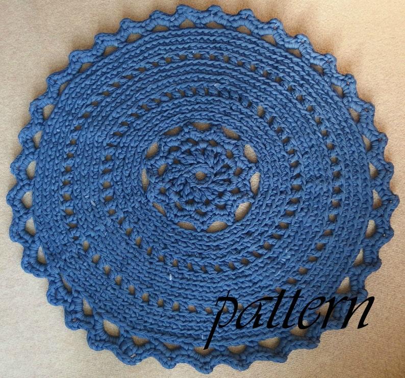 Digital Download Crochet Pattern T Shirt Yarn Rug Crochet Rug Etsy