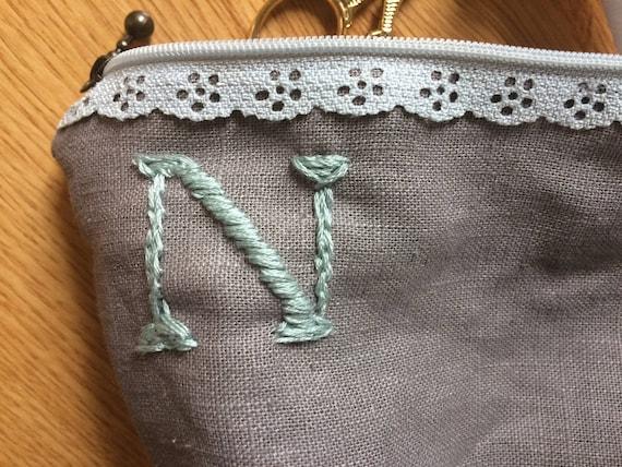 Erste Kupplung Tasche bestickt. Momogrammed Kupplung | Etsy
