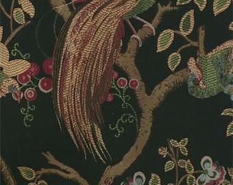 Upholstery Fabric, Drapery Fabric, Birds Fabric, Pheasant Fabric, Woven Fabric, Damask Jacquard, Fabric By The Yard