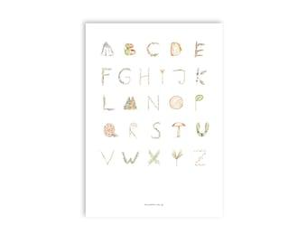 Forest alphabet | A3 artprint