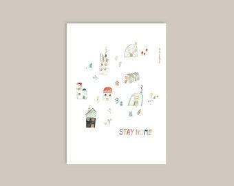 Stay home! | A4 print