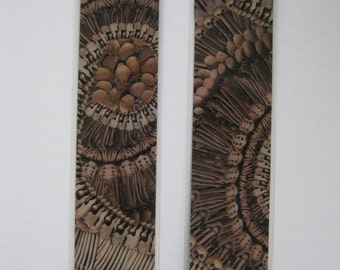 Alexander McQueen bookmark made from 'Catacomb' print paper. Great stocking filler.