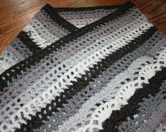 Crocheted Vintage Violet Shawl Wrap