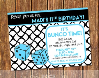 Bunco invitations Etsy