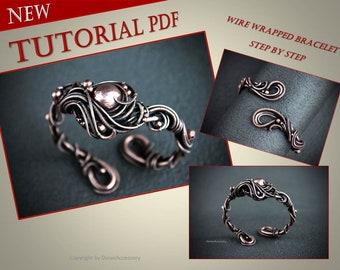 Wire wrap tutorial bracelet Wire tutorial Wire wrapping tutorial Wire lesson Wire weave tutorial Wire jewelry tutorial Dorasaccessory pdf