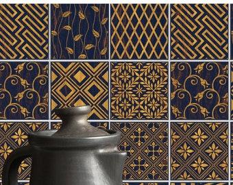 TIVA DESIGN, Art deco Tile/Wall/Stairs Peel and Stick Decal, Tile Sticker, Kitchen, Bathroom, Backsplash, DIY, Cabinet Decal, Vinyl, Wall