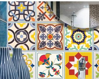TIVA DESIGN, Cheerful Tile/Wall/Stairs Peel and Stick Decal/Sticker. Kitchen, Bathroom, Backsplash, DIY, Cabinet, Vinyl, Wall,  waterproof