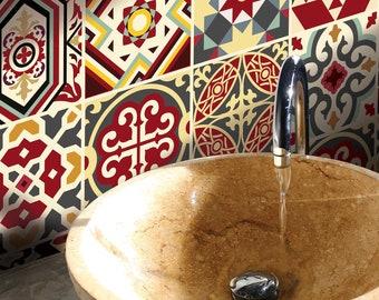 TIVA DESIGN, Byzantine Empire  Tile,Wall,Stairs Peel and Stick Decal, Tile Sticker, Kitchen, Bathroom, Backsplash, DIY, Vinyl, waterproof