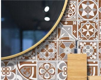 TIVA DESIGN, Sandstone Tile/Wall/Stairs Peel and Stick Decal, Tile Sticker, Kitchen, Bathroom, Backsplash, DIY, Cabinet Decal, Vinyl, Wall