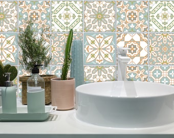 TIVA DESIGN, Eastern Fution Tile/Wall/Stairs Peel and Stick Decal/Sticker. Kitchen, Bathroom, Backsplash, DIY, Vinyl, Wall,  waterproof