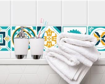TIVA DESIGN, Retro Tile/Wall/Stairs Peel and Stick Decal/Sticker. Kitchen, Bathroom, Backsplash, DIY, Vinyl, Wall,  waterproof