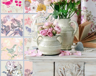 TIVA DESIGN, Vintage Birds Tile/Wall/Stairs Peel and Stick Decal/Sticker. Kitchen, Bathroom, Backsplash, DIY, Cabinet, Wall,  waterproof