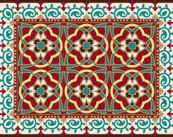PVC Floor Mat, for the kitchen or the bath room  . Arabsque by  TIVA DESIGN