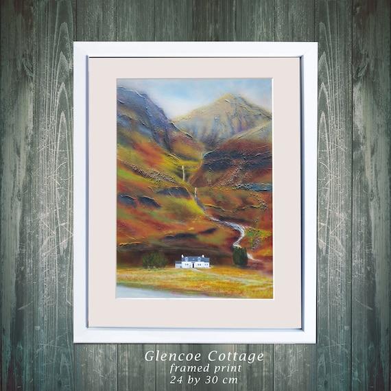 Glencoe Cottage Fine Art Print Scottish Landscape Wall Art Etsy