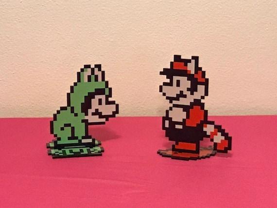 Super Mario Bros 3 Power Up Sprites Nintendo Inspired Etsy