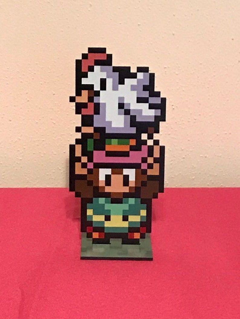 Link and Cucco  Legend of Zelda Nintendo Video Game Inspired image 0