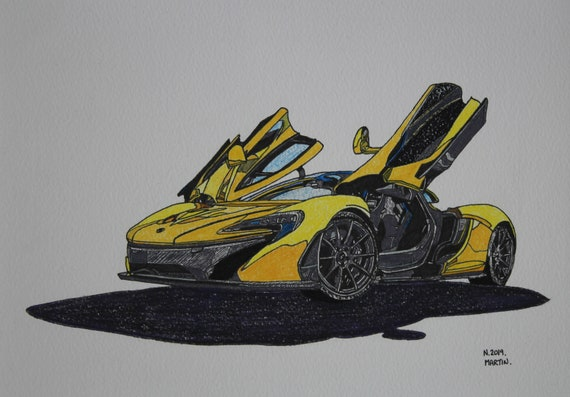 BUY 2 GET ANY 2 FREE MCLAREN P1 SUPERCAR POSTER ART PRINT A3 A4 SIZE
