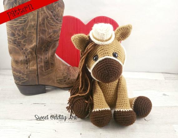 Horse Crochet Pattern Cowgirl Crochet Pattern Crochet Etsy