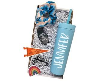 Sky Blue Custom Tumbler, Christmas Present, Ready to Gift Box, Personal Gift Box, Custom Name Cup, Bachelorette Gift Box, Matching Gifts